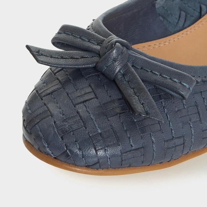 Ballerines tressées - hillary bleu marine cuir Dune London