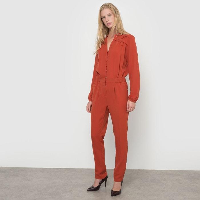combinaison pantalon fluide rouge rouille la redoute collections en solde la redoute. Black Bedroom Furniture Sets. Home Design Ideas