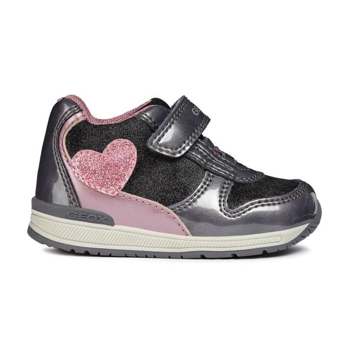 b41d34600fc04 Baskets montantes à scratch b rishon girl Geox gris rose