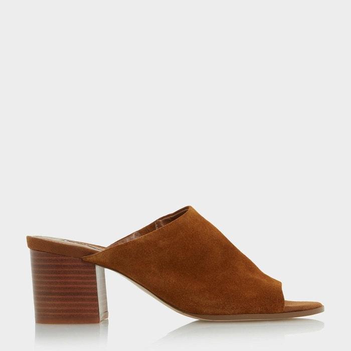Mules sans doublure à talons carrés - jupita Dune London