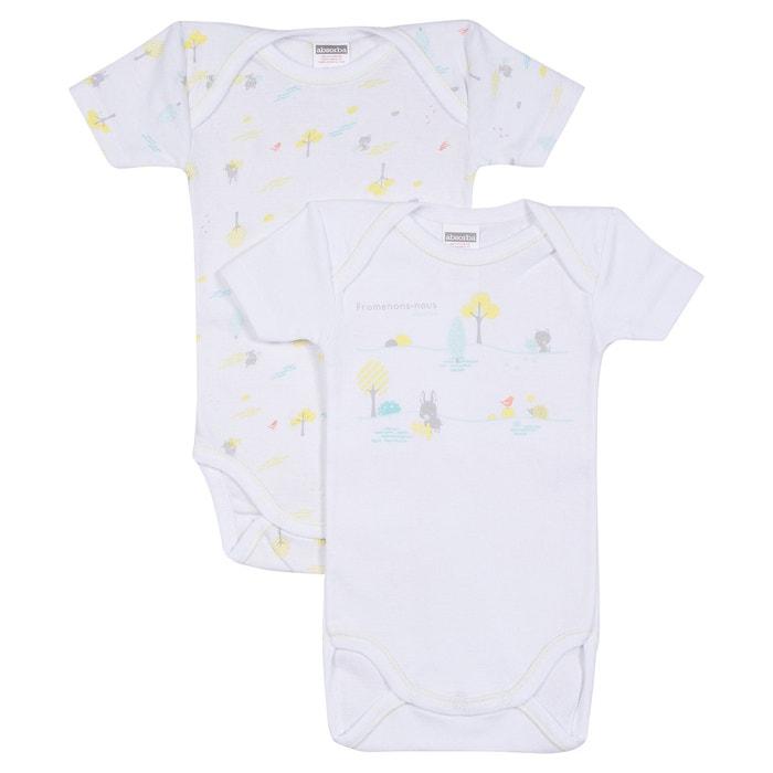 Baby s cotton bodysuit white Absorba