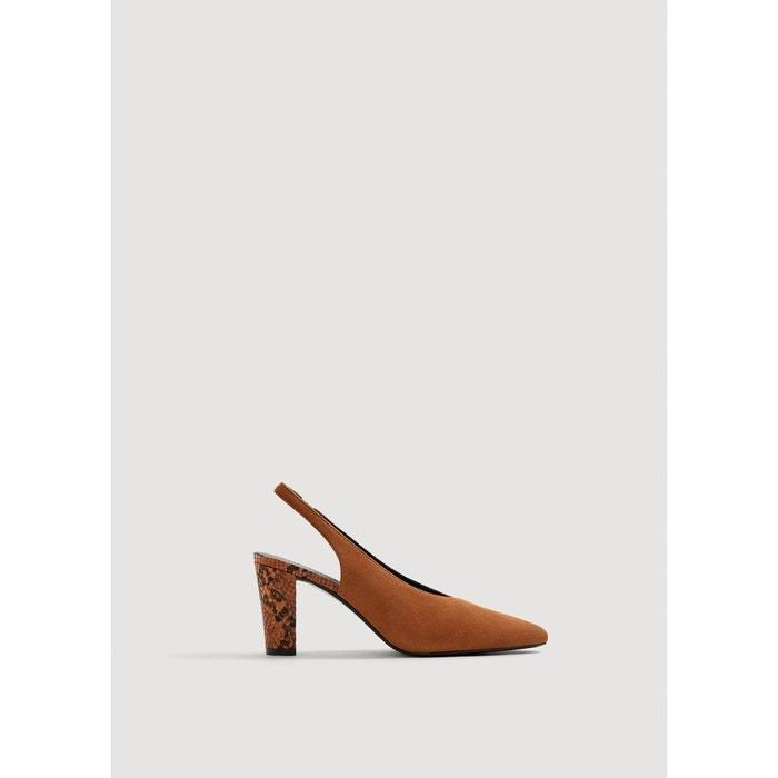 Qualité Supérieure De La Livraison Gratuite Chaussures cuir ouvertes à l'arrière orange foncé Mango Dédouanement Prix De Gros cL4tFsf8O