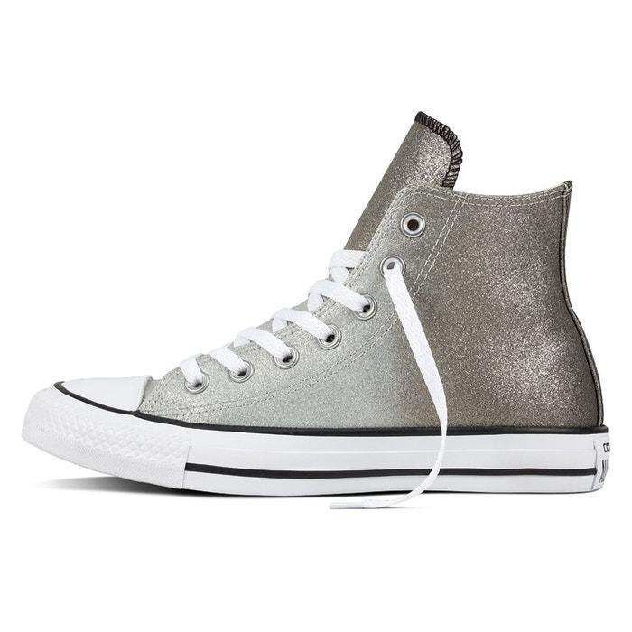 Baskets montantes ctas hi ombre metallic gris Converse