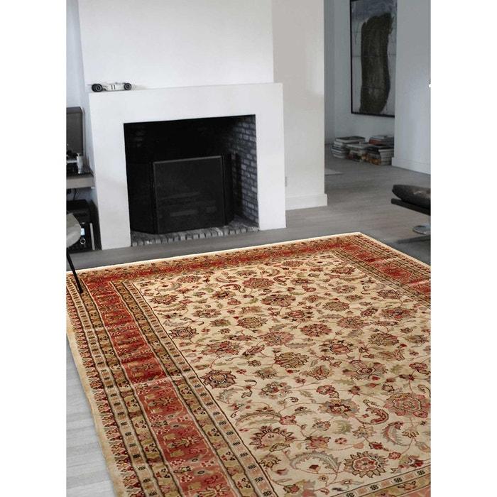 tapis d 39 orient nou main prestige jihangir soie 15 saumon laine et soie beige un amour de tapis. Black Bedroom Furniture Sets. Home Design Ideas