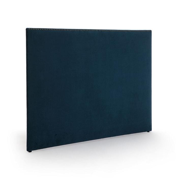 Tete De Lit Velours Finition Cloutee Eulali Bleu De Prusse La Redoute Interieurs La Redoute