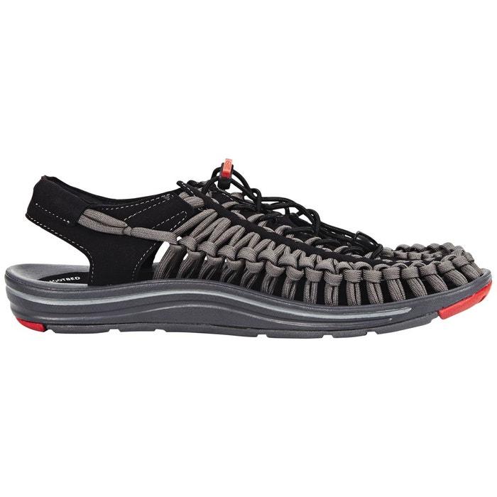 Uneek flat - sandales homme - gris/noir noir Keen