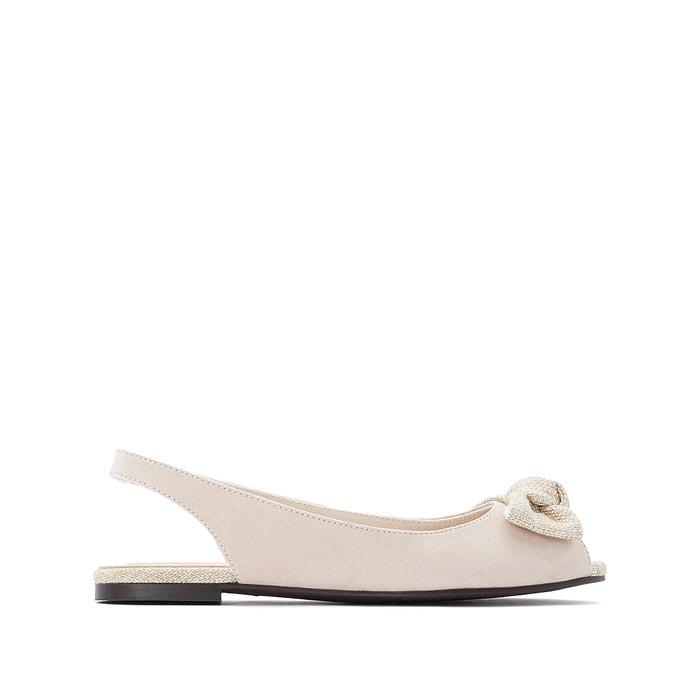 design unico guarda bene le scarpe in vendita risparmia fino al 60% Ballerine piatte punta aperta, con fiocco