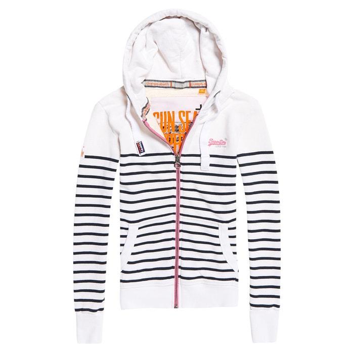 Striped Zip-Up Hoodie  SUPERDRY image 0