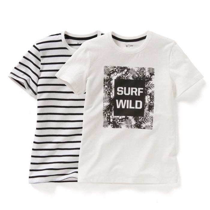 afbeelding Bedrukt T-shirt (set van 2) La Redoute Collections