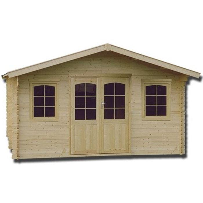 abri de jardin en bois massif 34 mm 18 76 m bois clair. Black Bedroom Furniture Sets. Home Design Ideas