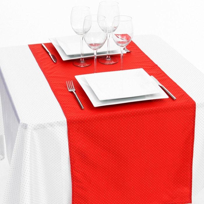 Chemin de table 40 x 140 cm rouge et or rouge mobea for Chemin de table beige