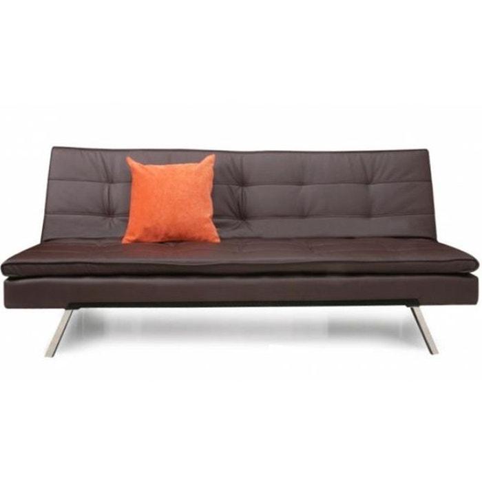 banquette clic clac celia marron declikdeco la redoute. Black Bedroom Furniture Sets. Home Design Ideas