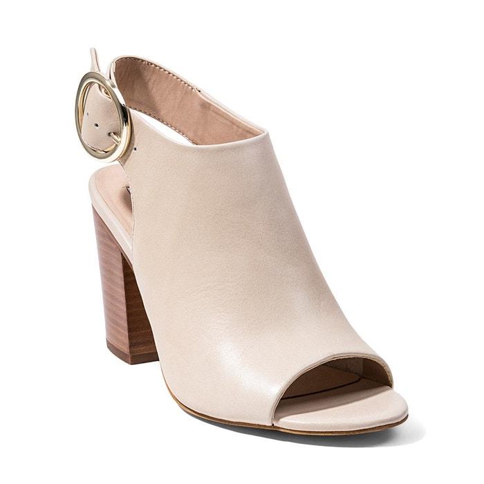 Sandale à talon avec boucle beige foncé Steve Madden Meilleur Gros Pas Cher ssdXWMwkR