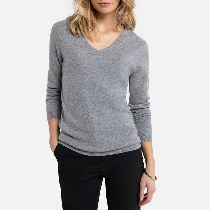Trui met V-hals in fijn tricot van zuiver kasjmier  ANNE WEYBURN image 0