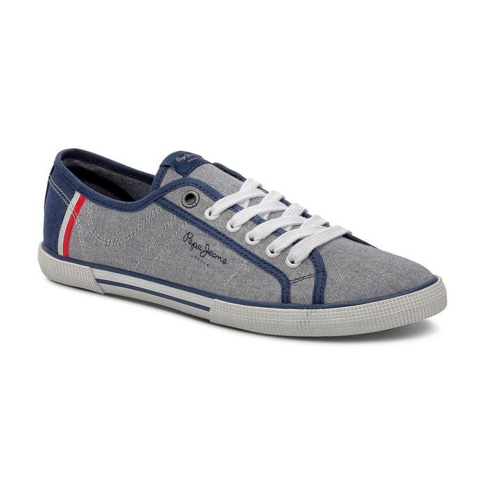 Baskets aberman court bleu Pepe Jeans
