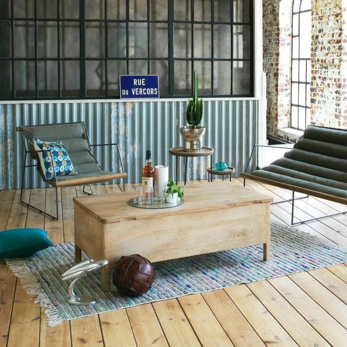 table basse bois rectangle d pliable pour rangement ne bois made in meubles la redoute. Black Bedroom Furniture Sets. Home Design Ideas
