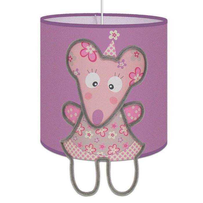suspension lumineuse 39 emilie la souris 39 chambre enfant rose art et loupiote la redoute. Black Bedroom Furniture Sets. Home Design Ideas