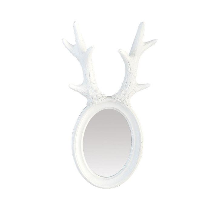 Miroir cornes de cerf blanc blanc emde premium la redoute for Miroir emde deco