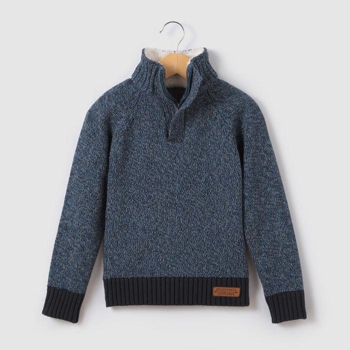 Imagen de Jersey caliente de cuello alto con cremallera  3-12 años La Redoute Collections