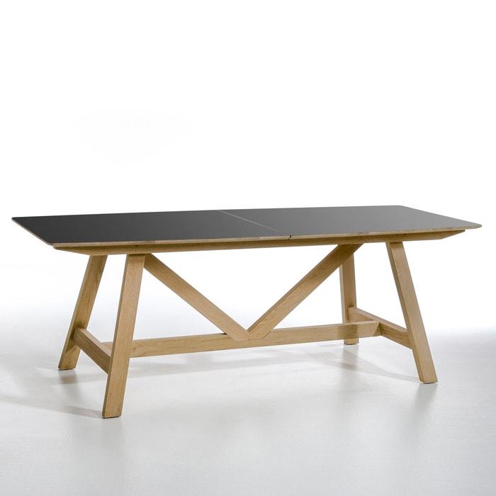 Uitschuifbare tafel buondi design e gallina zwart metaal eik am pm la redoute - Am pm stoelen ...