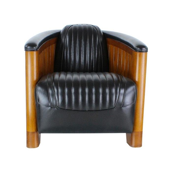 fauteuil club cuir noir amiral kha home design la redoute. Black Bedroom Furniture Sets. Home Design Ideas