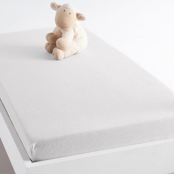 Drap housse jersey pur coton pour lit b b scenario la for Drap housse lit bebe