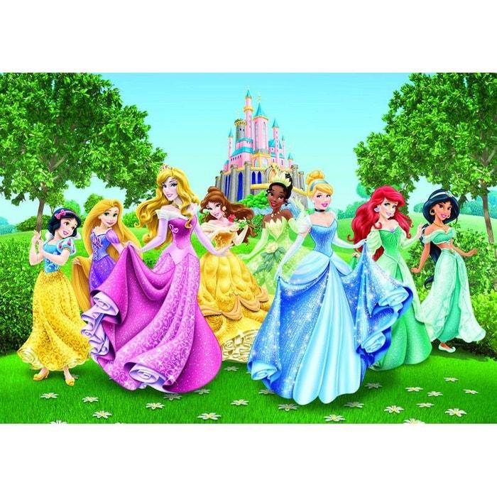 Papier Peint Chateau Et Princesses Disney 360x255 Cm Multicolor