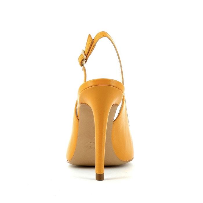 Escarpins sling orange Evita