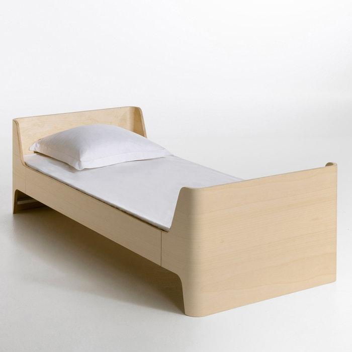 lit 1 personne scandi design e gallina naturel am pm la redoute. Black Bedroom Furniture Sets. Home Design Ideas
