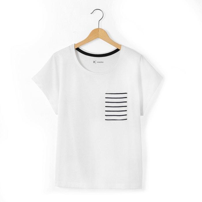 afbeelding T-shirt met bedrukt zakje 10-16 jr La Redoute Collections