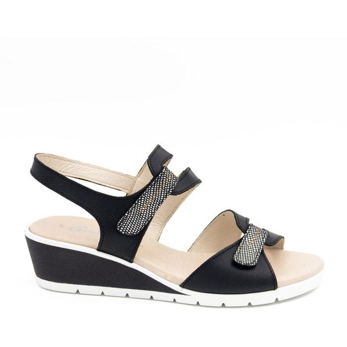 Castellanísimos sandales en cuir femmes eté 2018  noir Castellanisimos  La Redoute