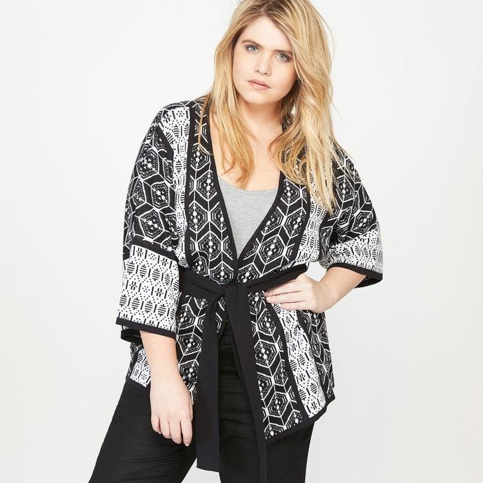 gilet kimono jacquard imprim jacquard castaluna la redoute. Black Bedroom Furniture Sets. Home Design Ideas