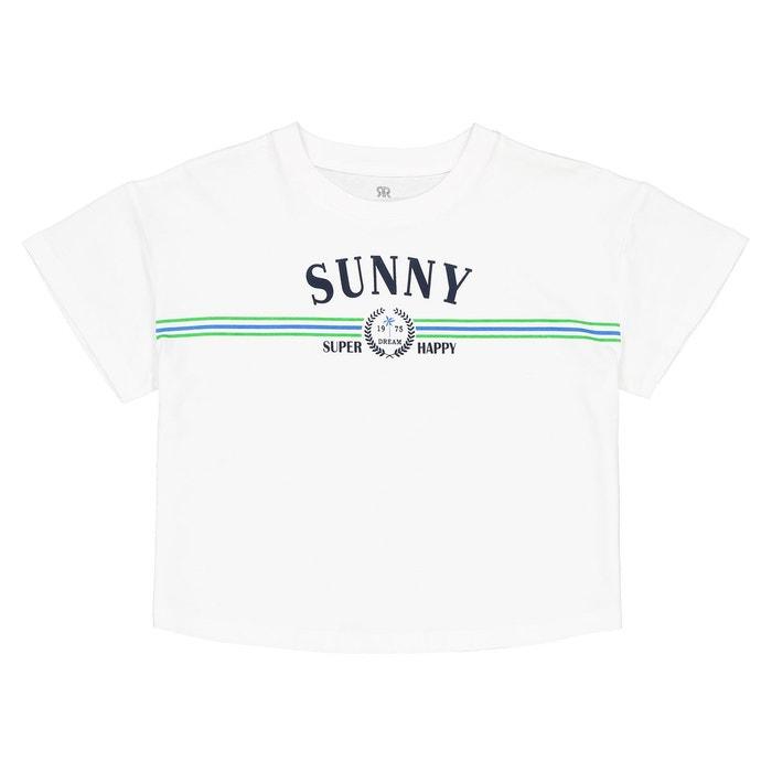 b9f0610d56a T-shirt imprimé 10-16 ans blanc La Redoute Collections