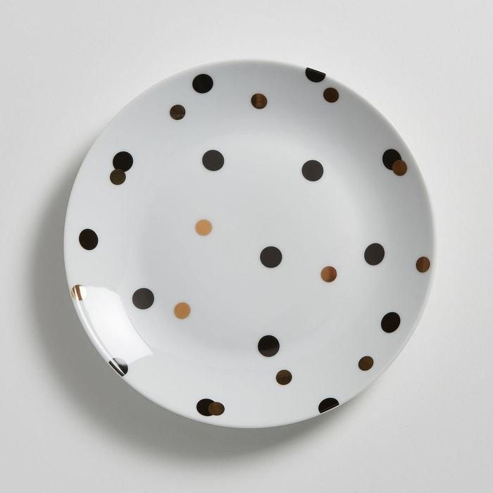 Assiette dessert porcelaine, Kubler (lot de 4) La Redoute Interieurs
