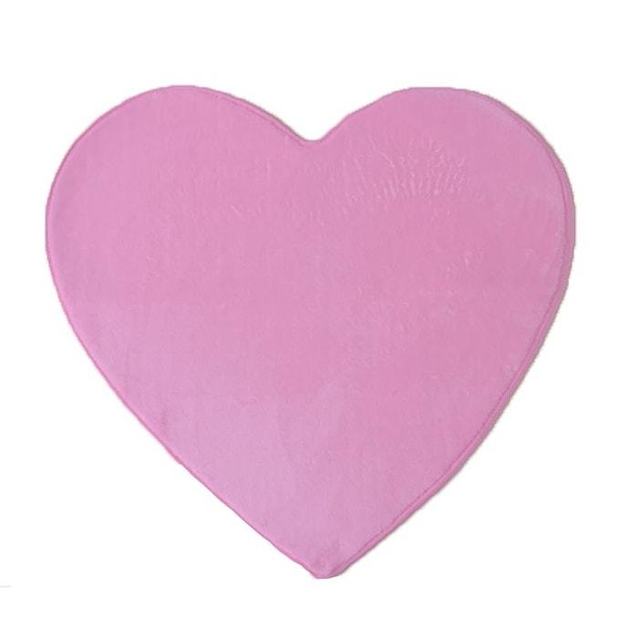 tapis en forme de coeur rose 80x74cm rose decoratie la redoute. Black Bedroom Furniture Sets. Home Design Ideas