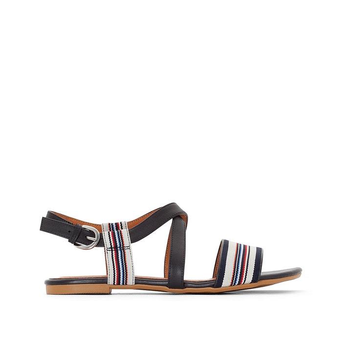 Image Flat Striped Sandals atelier R
