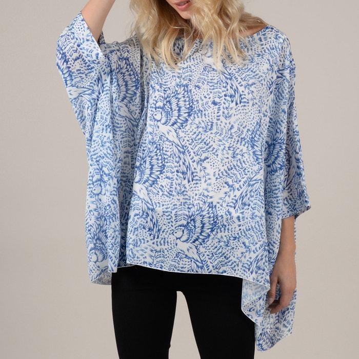 993cfd17c36 Блузка свободного покроя с рисунком