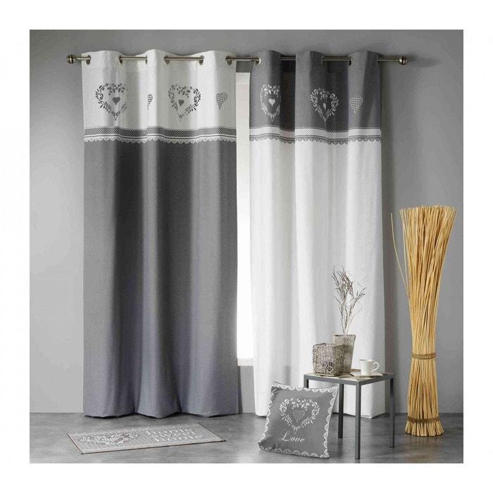rideau home love gris blanc 140x240 douceur d 39 int rieur gris douceur d 39 int rieur la redoute. Black Bedroom Furniture Sets. Home Design Ideas
