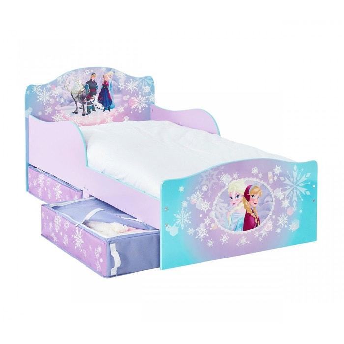 lit enfant reine des neiges avec tiroirs de rangement. Black Bedroom Furniture Sets. Home Design Ideas