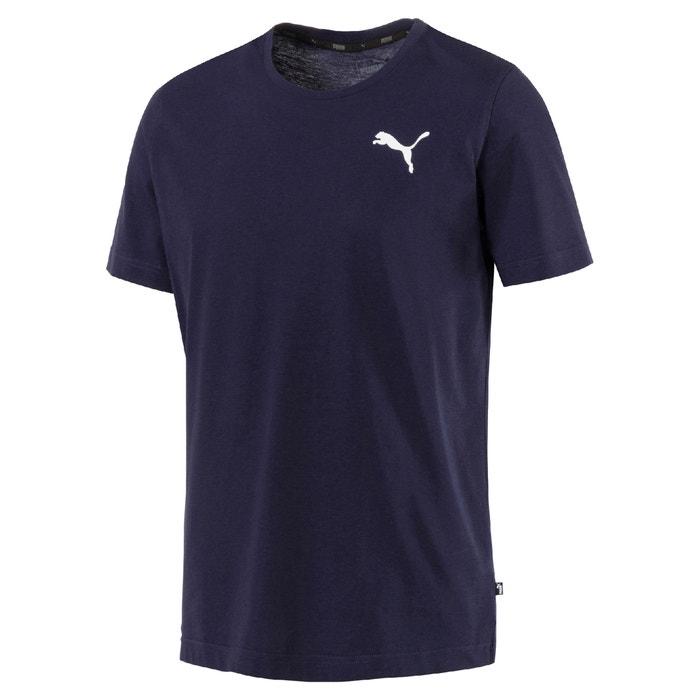 corta PUMA redondo con delante cuello Camiseta manga estampado de con 4YqHAYBcwr