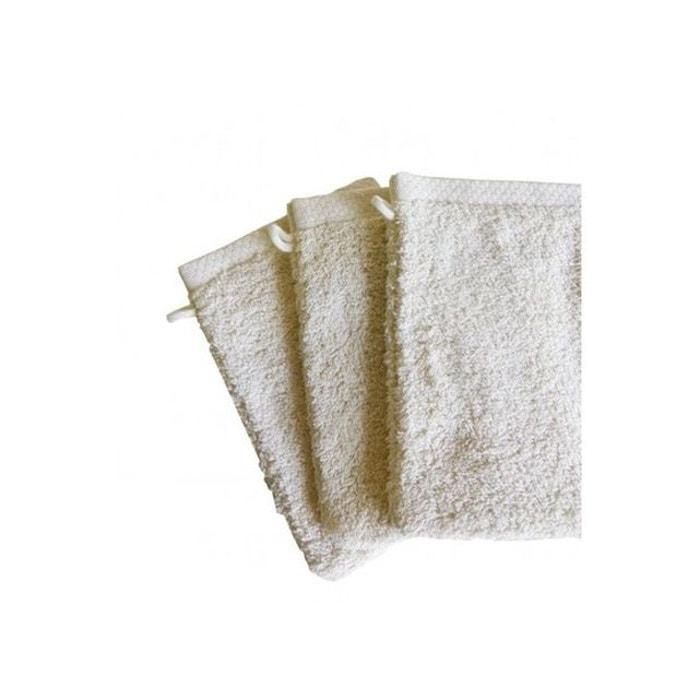 gant de toilette pure square ecru ecru monteleone le linge la redoute. Black Bedroom Furniture Sets. Home Design Ideas