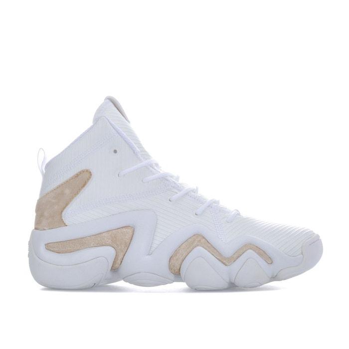 80b4ea659381a Baskets mi montantes crazy 8 adv blanc - doré Adidas Originals | La Redoute