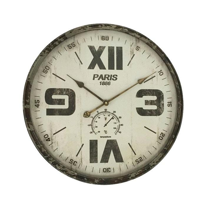 horloge mix chiffres romains 60cm gris emde premium la redoute. Black Bedroom Furniture Sets. Home Design Ideas