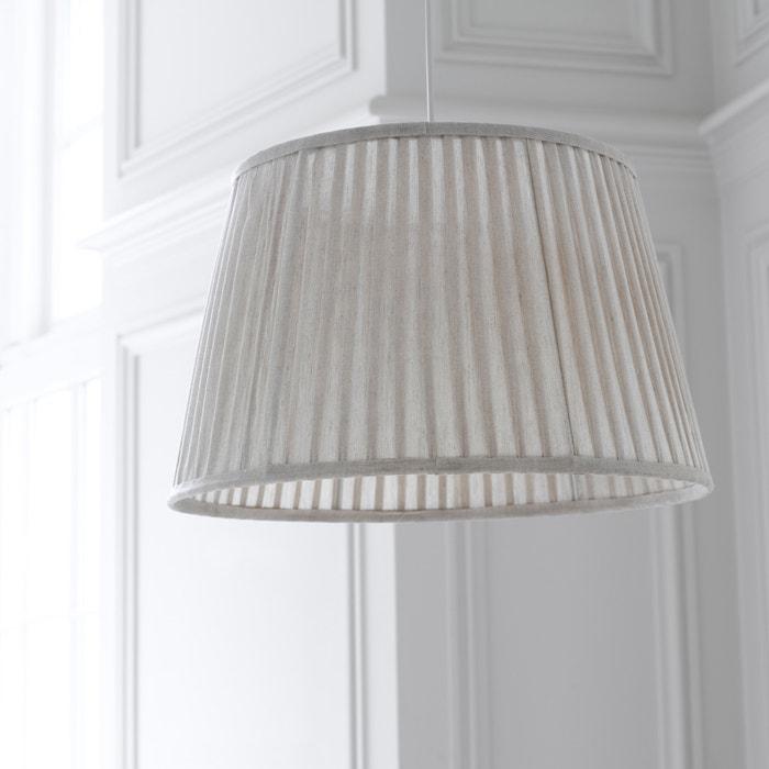 suspension abat jour pliss odila la redoute interieurs beige ficelle la redoute. Black Bedroom Furniture Sets. Home Design Ideas