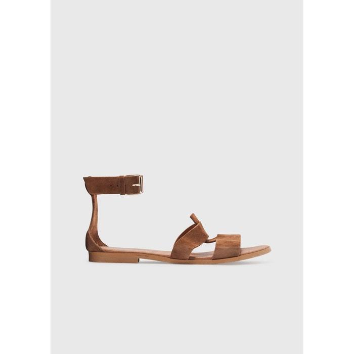 Sandales montantes en daimLa Fée Maraboutée kI9j3me