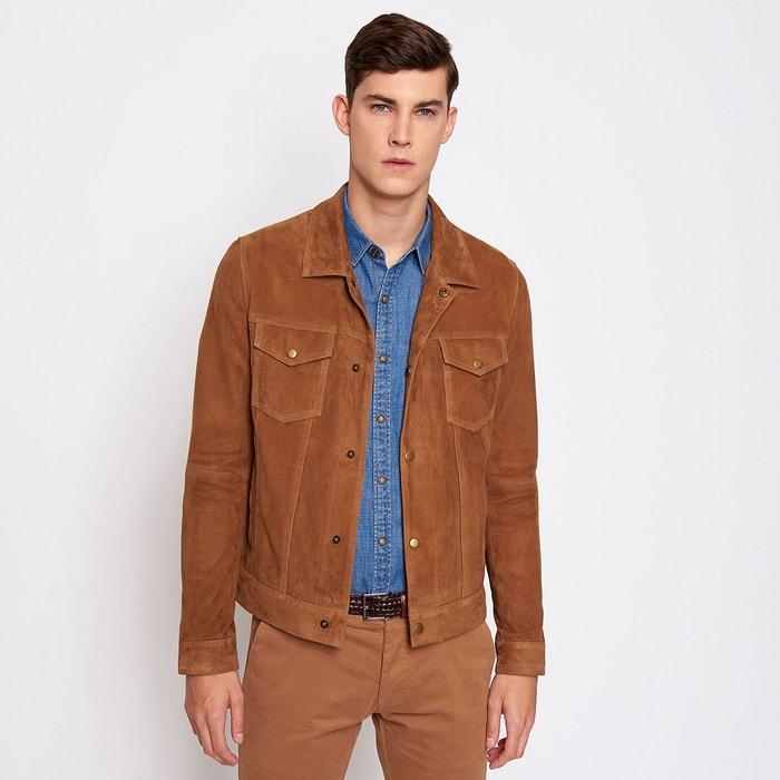 440298ab394d8 Blouson en cuir homme marron caramel Devred   La Redoute