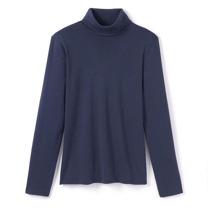 T-shirt con collo dolcevita tinta unita, maniche lunghe  La Redoute Collections image 0