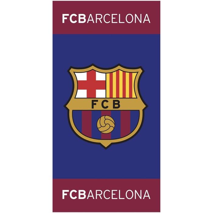 Drap De Plage Fc Barcelona 75x150 Bleu Fc Barcelone La Redoute