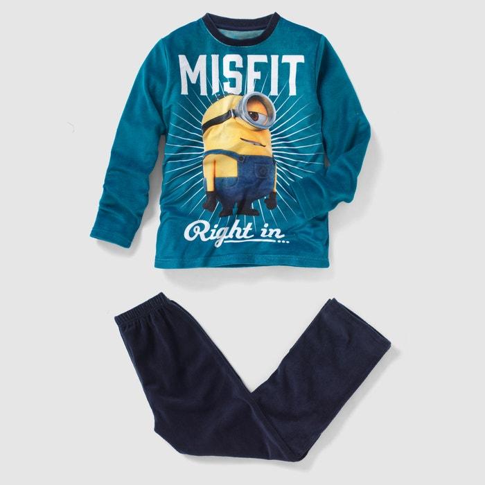 afbeelding Pyjama MINIONS in fluweel, 6 mnd - 18 jr MINIONS
