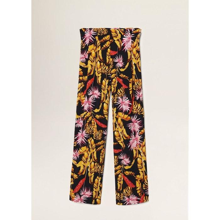 Pantalon palazzo imprimé noir Mango   La Redoute 9b82818896c9